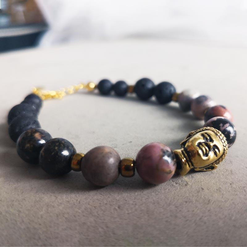Buddha Lava Rhodonit - Moni Sattler