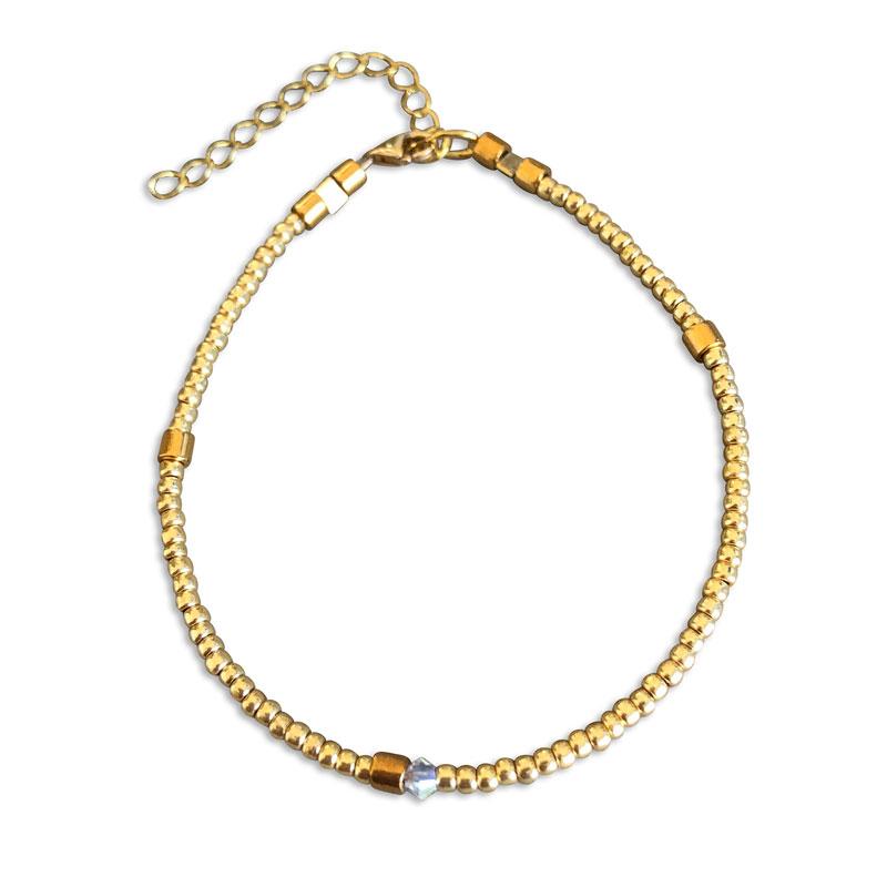 Plain armbånd guld 2mm - Moni Sattler