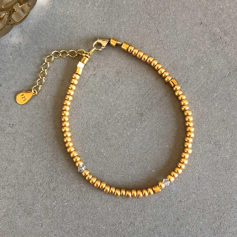 Plain armbånd guld 3mm - Moni Sattler
