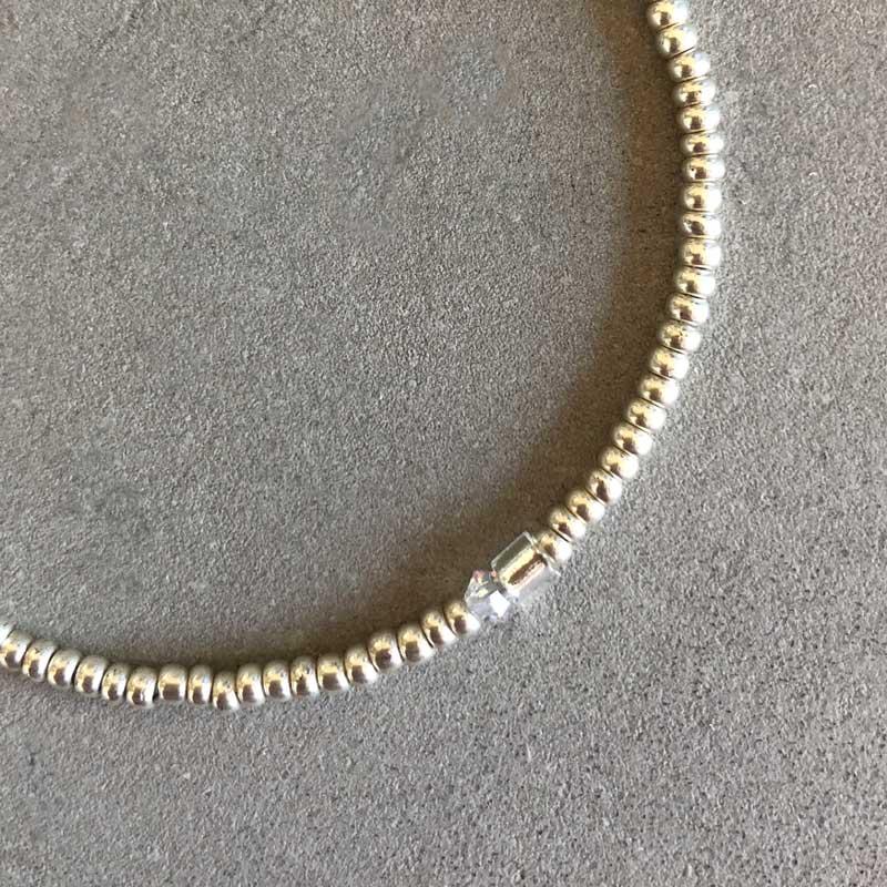 Plain armbånd sølv 2mm - Moni Sattler