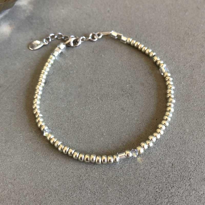 Plain armbånd sølv 3mm - Moni Sattler
